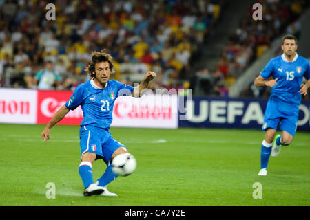 24.06.2012 , Kiev, Ukraine. Andrea Pirlo (Juventus) in action for Italy during the European Championship Quarter - Stock Photo