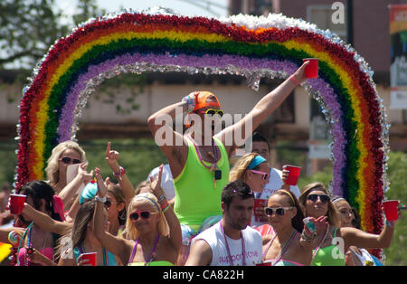 June 24, 2012 - Chicago, Illinois, U.S. - The Chicago Gay Pride Parade began at noon on the north side of the city. - Stock Photo