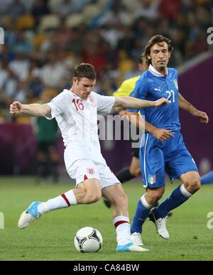 24.06.2012.  UKRAINE, Kiev : Euro 2012 football championships quarter-final match England vs Italy on June 24, 2012 - Stock Photo