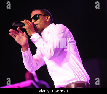 July 4, 2010 - New Orleans, Louisiana; USA - Singer TREY SONGZ performs live as part of the 2010 Essence Music Festival - Stock Photo
