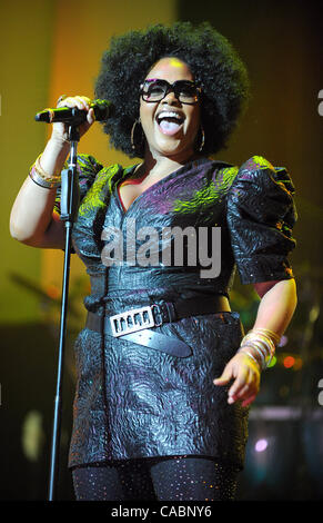 July 4, 2010 - New Orleans, Louisiana; USA - Singer JILL SCOTT performs live as part of the 2010 Essence Music Festival - Stock Photo