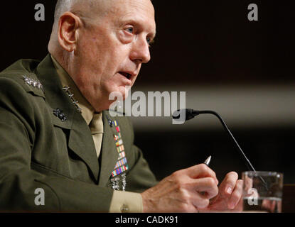 Jul 27, 2010 - Washington, District of Columbia, U.S. - Marine Corps Gen. JAMES MATTIS testifies before the Senate - Stock Photo