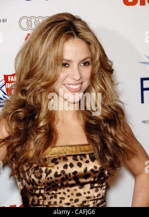 Nov. 11, 2007 - Hollywood, California, U.S. - Shakira during the AFI Fest 2007 Closing Night Gala presentation of - Stock Photo