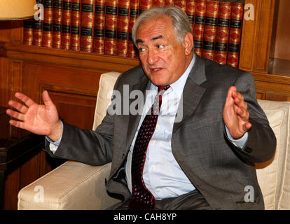 December 7, 2010 - Athens, Greece - IMF chief  DOMINIQUE STRAUSS-KAHN was arrested and charged on Sunday with sexually - Stock Photo