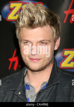 Dec 14, 2007 - New York, NY, USA - NICK CARTER poses for photos in the press room for Z100's Jingle Ball 2007 held - Stock Photo
