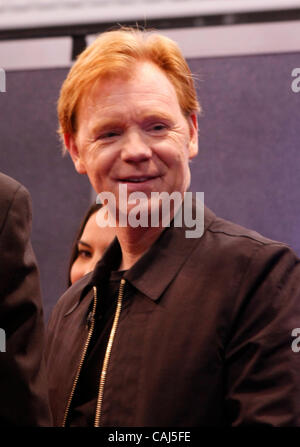 CSI Miami actor David Caruso at the G4 booth during the second day of the 2008 CES show in Las Vegas NV. January - Stock Photo