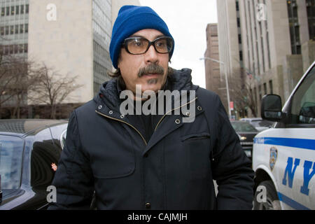 Jan. 11, 2011 - New York, New York, U.S. - Tattoo artist JONATHAN SHAW leaving court. He pleaded not guilty to charges - Stock Photo