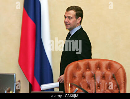 first vice premier Dmitri Medvedev at the goverment session in Moscow - Stock Photo