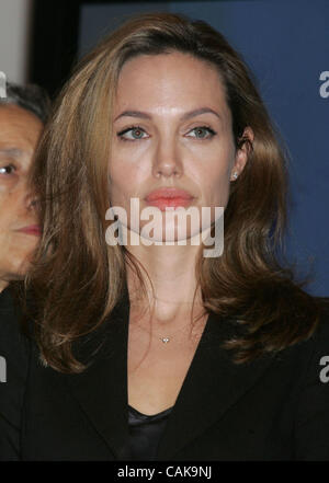 Sep 26, 2007 - New York, NY, USA - Actress ANGELINA JOLIE at the 2007 Clinton Global Initiative held at the Sheraton - Stock Photo