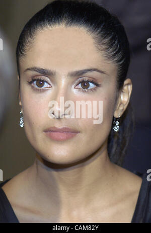 Oct. 27, 2003 - Los Angeles, California, USA - Salma Hayek, co-host of the Louis Vuitton United Cancer Front gala - Stock Photo