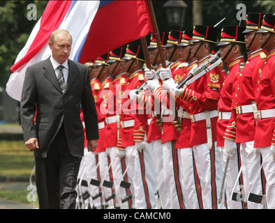 September 6, 2007. Russian President Vladimir Putin at a welcome ceremony in Jakarta while his official visit to - Stock Photo