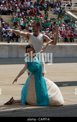 6/4/2012 Athens Greece. Revival of the first Olympic Games on modern times in Panathenaikon stadium. - Stock Photo