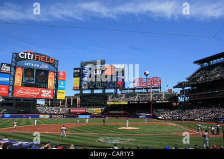 A New York Mets game at Citi Field in Queens. - Stock Photo