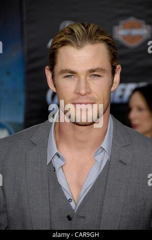 Chris Hemsworth at arrivals for THE AVENGERS Premiere, El Capitan Theatre, Los Angeles, CA April 11, 2012. Photo - Stock Photo