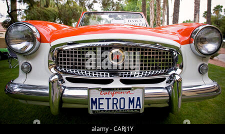 April 14, 2012 - Phoeniz, AZ, USA -  A 1961 convertible Nash Metropolitan, one of approximately 60 micro and mini - Stock Photo