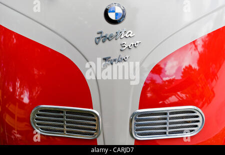 April 14, 2012 - Phoeniz, AZ, USA -  The nose of a 1957 Isetta 300, one of approximately 60 micro and mini cars - Stock Photo