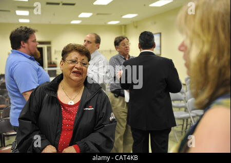 After Nassau County Coalition of Civic Associations installs Board Directors, on Tuesday, April 17, 2012, at Lido - Stock Photo