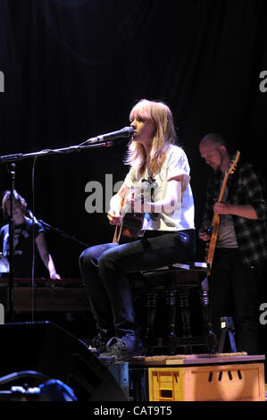 English singer songwriter Lucy Rose performing at Wolverhampton Civic Hall on Tuesday April 17 2012 supporting the - Stock Photo