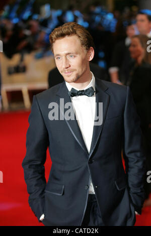 London, UK, 19/04/ 2012: Tom Hiddleston attends the Avengers Assemble - UK film premiere at the Vue Westfield, Westfield - Stock Photo