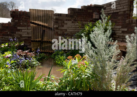 'Urban Oasis' show feature on Friday 20 April 2012, the first day of the RHS Show Cardiff in Bute Park, Wales, UK. - Stock Photo