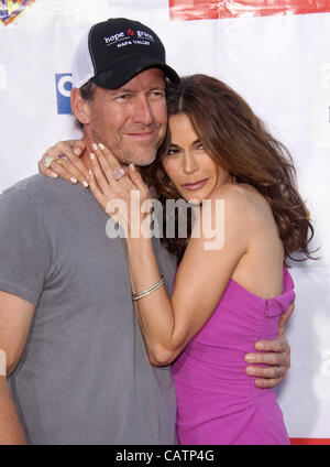 April 21, 2012 - Universal City, California, U.S. - JAMES DENTON & TERI HATCHER arrives for a Block Party benefiting - Stock Photo