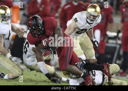 Nov. 26, 2011 - Palo Alto, California - Notre Dame was dominated by the Stanford Cardinal for their last regular - Stock Photo