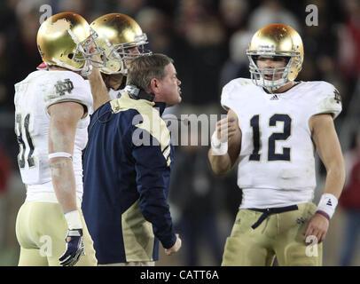 Nov. 26, 2011 - Palo Alto, California, USA - Notre Dame's Head Coach Brian Kelly. The Notre Dame Fighting Irish - Stock Photo