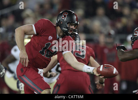 Nov. 26, 2011 - Palo Alto, California, USA - Stanford Cardinal quarterback Andrew Luck (12). The Notre Dame Fighting - Stock Photo