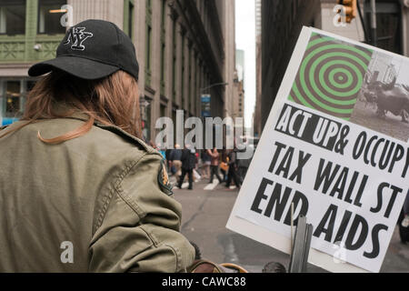 New York, NY -  25 April 2012 Act-Up (Aids Coalition to Unleash Power was joined by Occupy Wall Street for their - Stock Photo