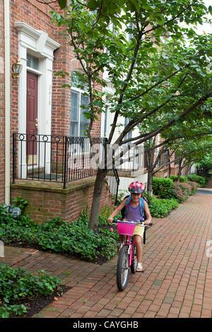 May 9, 2012 - Arlington, Virginia, USA - National Bike to School Day, Key School Escuela Key Elementary (Credit - Stock Photo