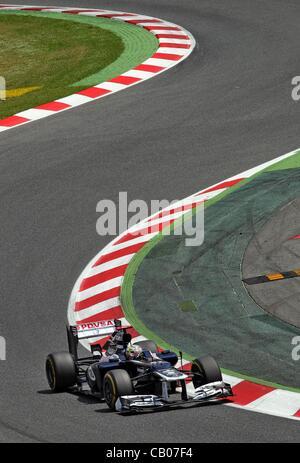 13.05.2012. Catalunya, Barcelona, Spain.  Venezuelan Formula One driver Pastor Maldonado of Williams during the - Stock Photo