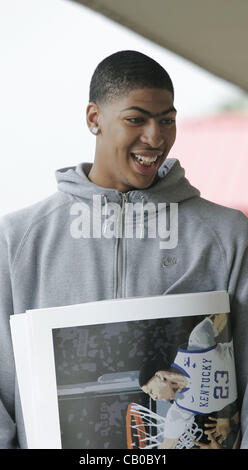 May 13, 2012 - Russell Springs, Kentucky, U.S. - University of Kentucky Wildcats basketball player ANTHONY DAVIS, - Stock Photo