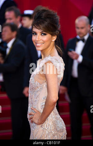 Eva Longoria (actress) at red carpet arrivals for opening ceremony & screening of 'Moonlight Kingdom' 65th Cannes - Stock Photo