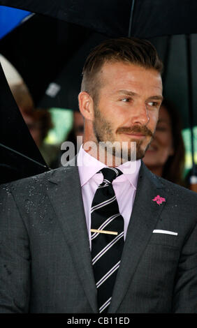 May 17, 2012 Athens Greece. DAVID BECKHAM attends the Olympic Flame handover ceremony at the Panathenaic stadium. - Stock Photo