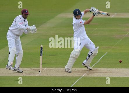 18.05.2012 London, England. England v West Indies First Test - Second Day.  I.J.L Trott in action during the first - Stock Photo