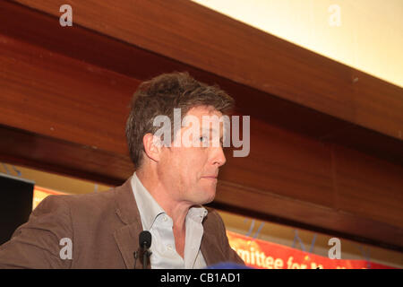 British actor Hugh Grant at a rally for media reform organised by Hacked Off and the coordinating Centre for Media - Stock Photo