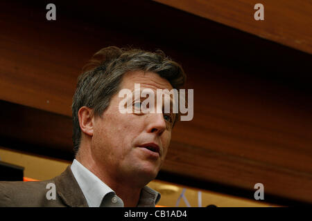 British actor Hugh Grant at a rally for media reform organized by Hacked Off and the Co-ordinating Centre for Media - Stock Photo