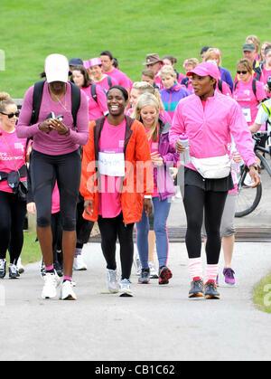 Blenheim Palace, England - Denise Lewis at the Pink Ribbonwalk at Blenheim Palace, Woodstock, Oxfordshire - May - Stock Photo