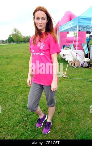 Blenheim Palace, England - Siobhan Donaghy at the Pink Ribbonwalk at Blenheim Palace, Woodstock, Oxfordshire - May - Stock Photo