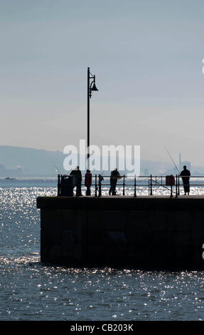 Swansea - UK - 22nd May 2012 - Warm May sunshine in the small fishing village of Mumbles near Swansea, South Wales. - Stock Photo
