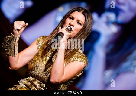 LONDON, UK - 22nd MAY 2012: Laura Pausini performs live at the Royal Albert Hall. Laura Pausini is a grammy-award - Stock Photo
