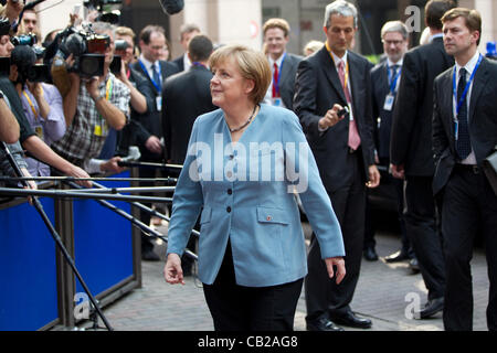 European Council, Brussels, Belgium. 23.05.2012 Picture shows Angela Merkel, Federal Chancellor of Germany,  arriving - Stock Photo