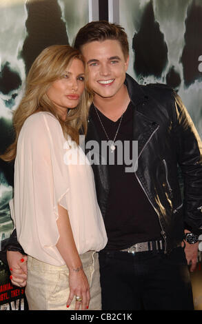 May 23, 2012 - Hollywood, California, U.S. - JESSE MCCARTNEY and EDITH SASOON attend the premiere of 'Chernobyl - Stock Photo