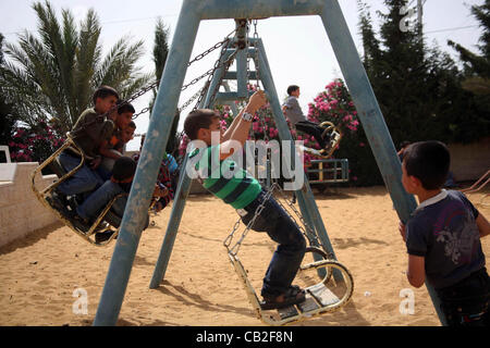 May 22, 2012 - Hebron, West Bank, Palestinian Territory - Palestinian orphan children play at the Hebron's orphan - Stock Photo