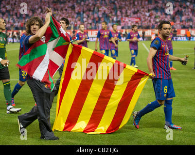 MADRID, SPAIN - MAY 25:  during the Copa del Rey Final between Athletic Bilbao and Barcelona at Vicente Calderon - Stock Photo