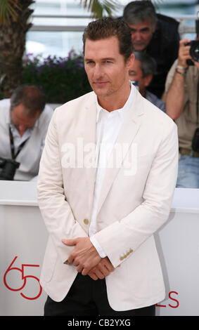 Actor Matthew McConaughey at the Mud photocall at the 65th Cannes Film Festival France. Saturday 26th May 2012 in Cannes