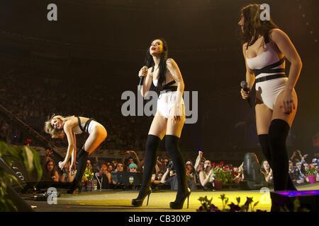 May 25, 2012 - Madrid, Spain - Serebro perform on stage during Spring Pop 2012 Festival at Palacio Vistalegre on - Stock Photo