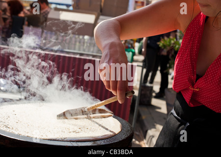 High Noon community festival is a Northcote local music fest in Melbourne, Australia crepe from street stall