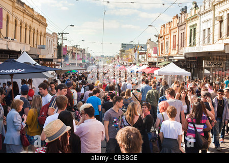 High Noon community festival is a Northcote local music fest in Melbourne, Australia - Stock Photo