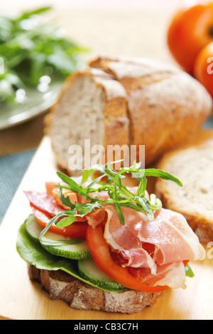 Ham sandwich - Stock Photo